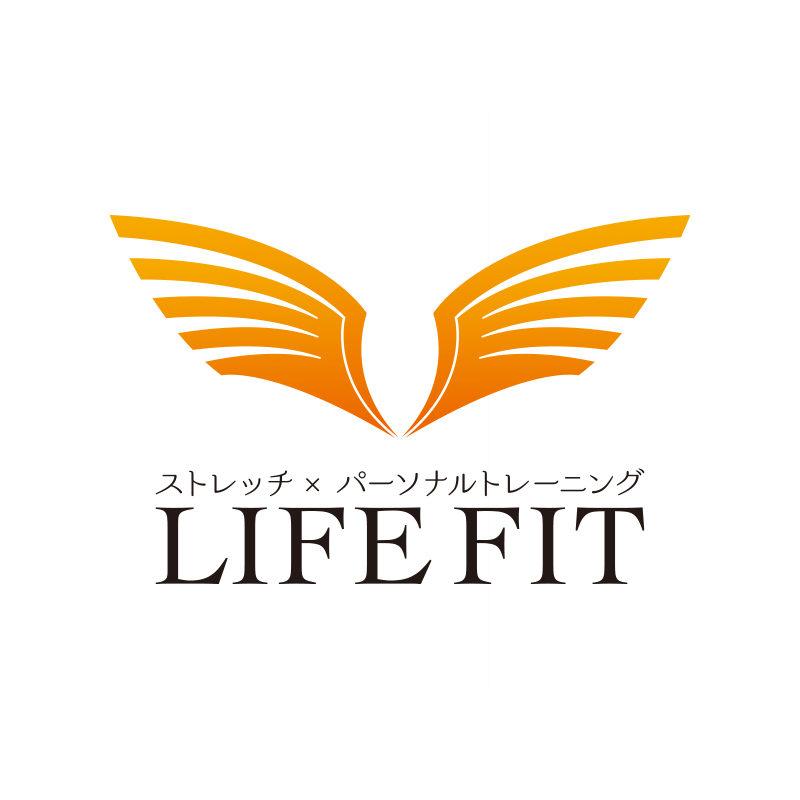 ストレッチ×パーソナルトレーニングの「LIFE FIT」様のロゴデザイン