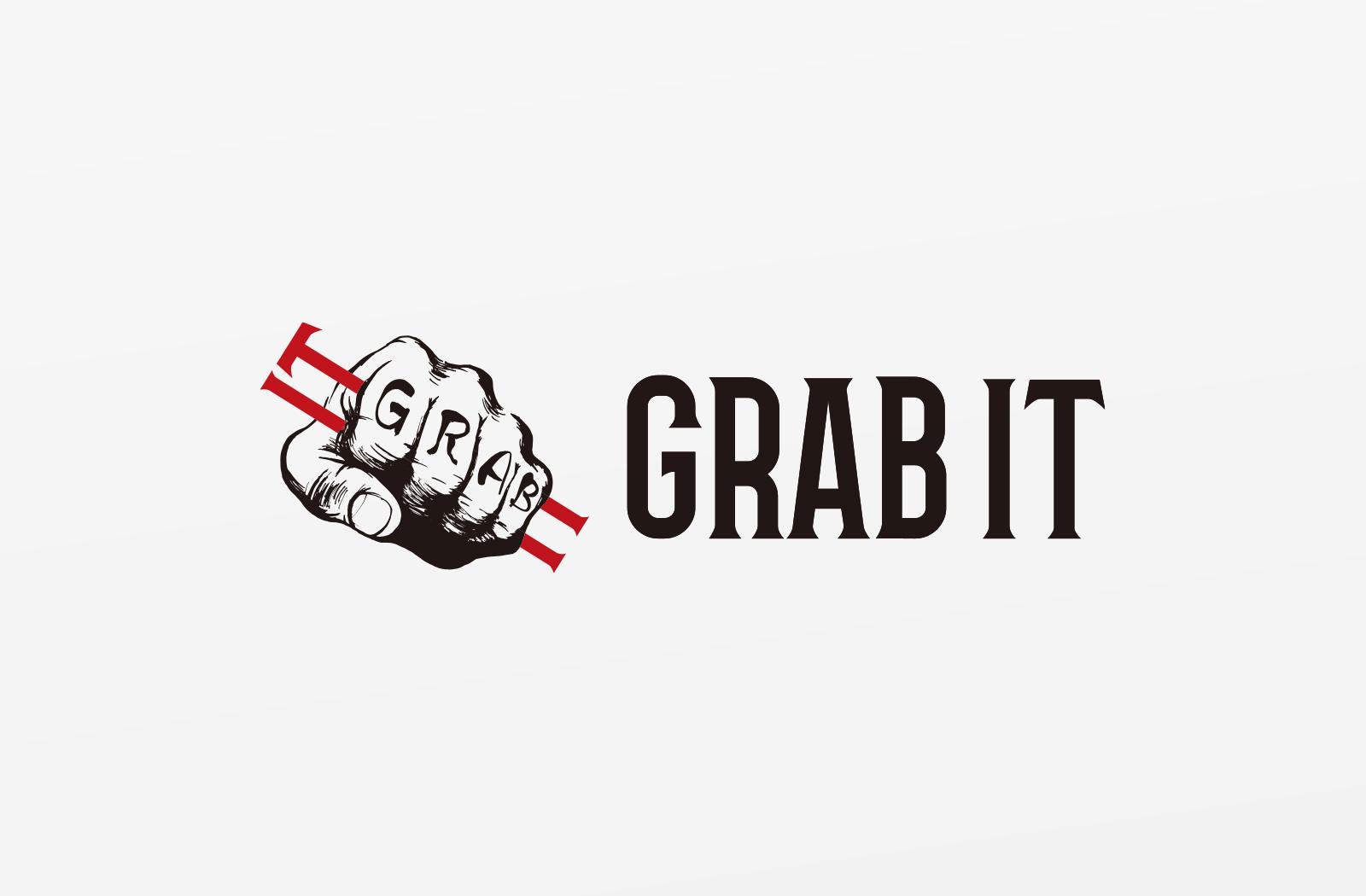 パーソナルジムの「GRAB IT」様のロゴデザイン