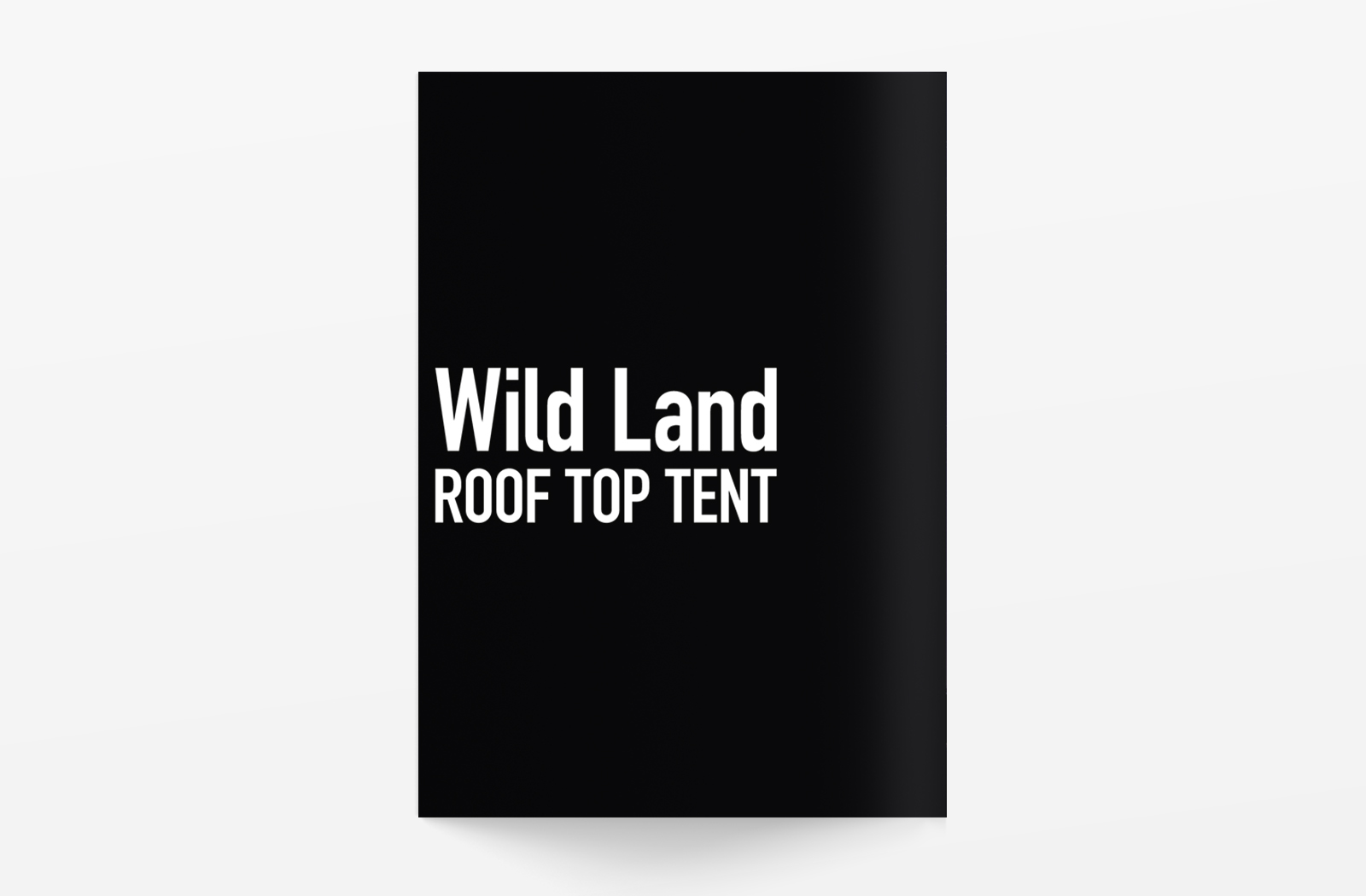 Wild Land ROOF TOP TENTのカタログデザイン